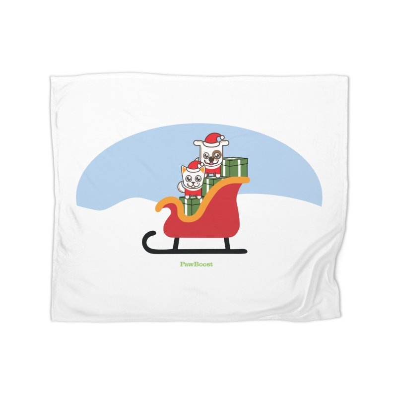 Santa Paws Home Fleece Blanket Blanket by PawBoost's Shop
