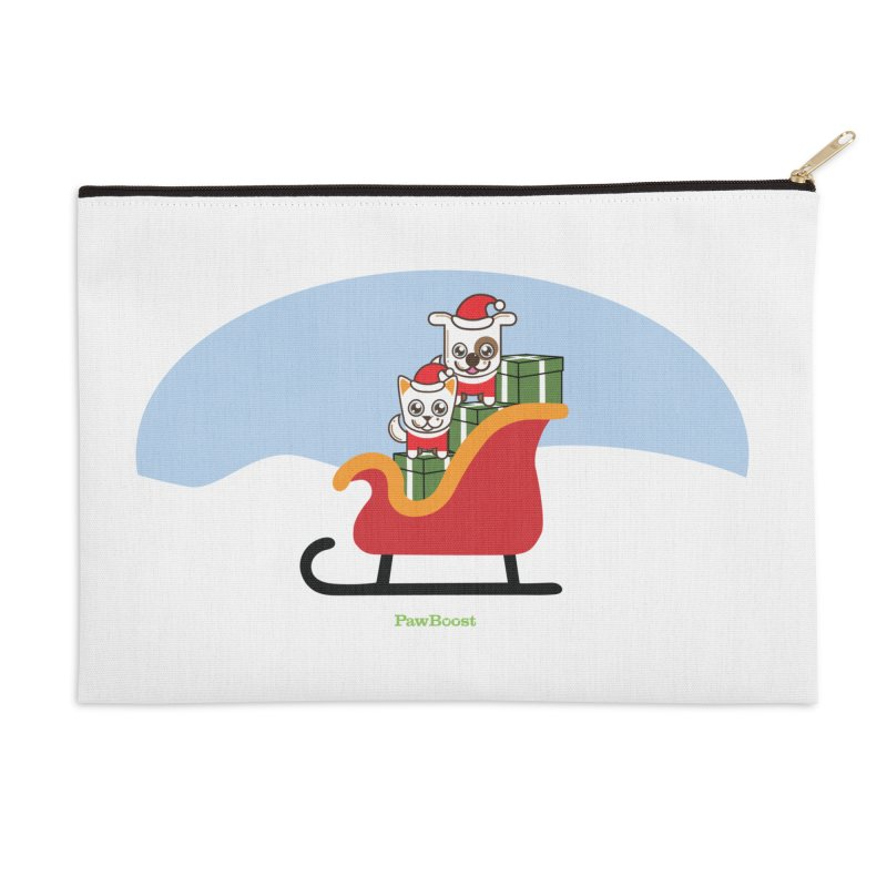 Santa Paws Accessories Zip Pouch by PawBoost's Shop