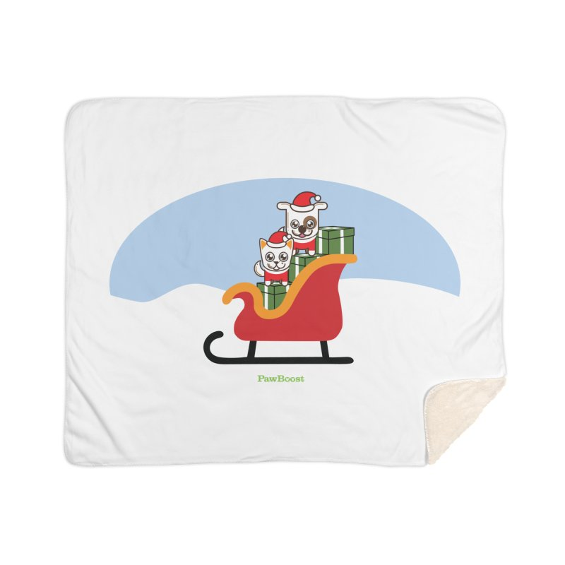 Santa Paws Home Sherpa Blanket Blanket by PawBoost's Shop