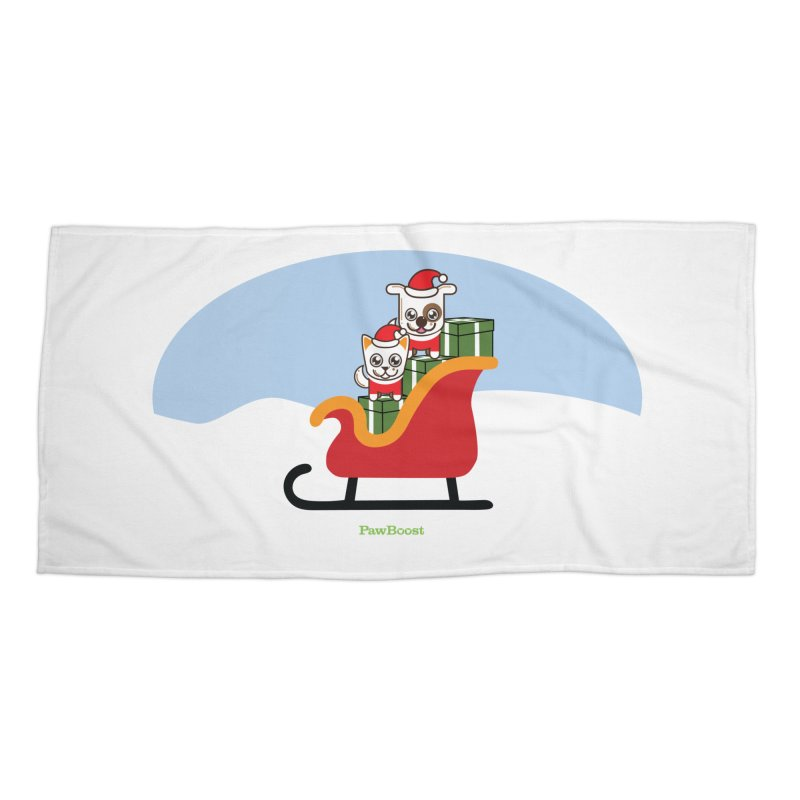 Santa Paws Accessories Beach Towel by PawBoost's Shop