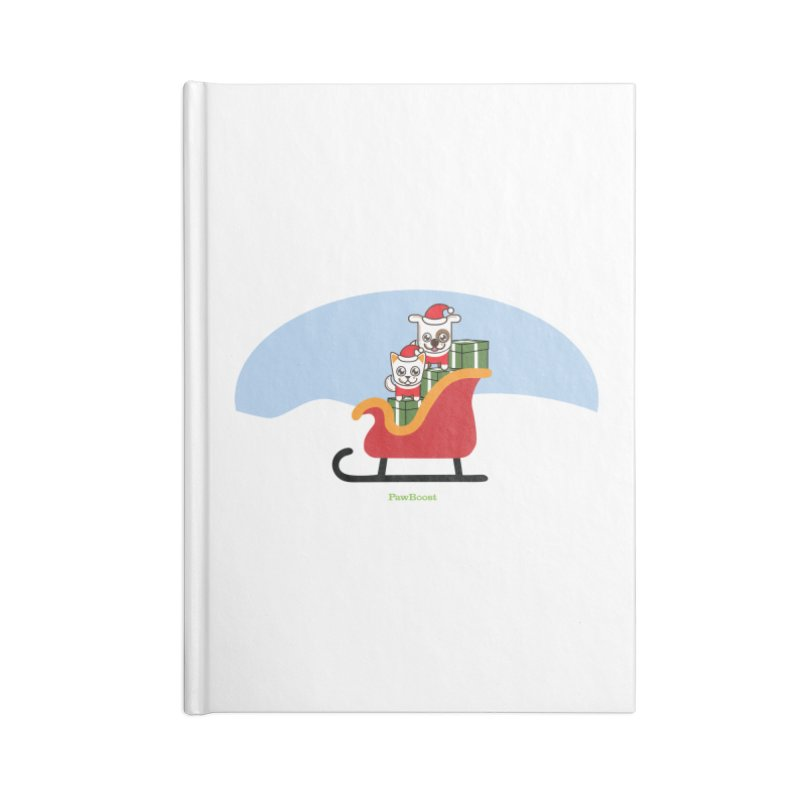 Santa Paws Accessories Blank Journal Notebook by PawBoost's Shop