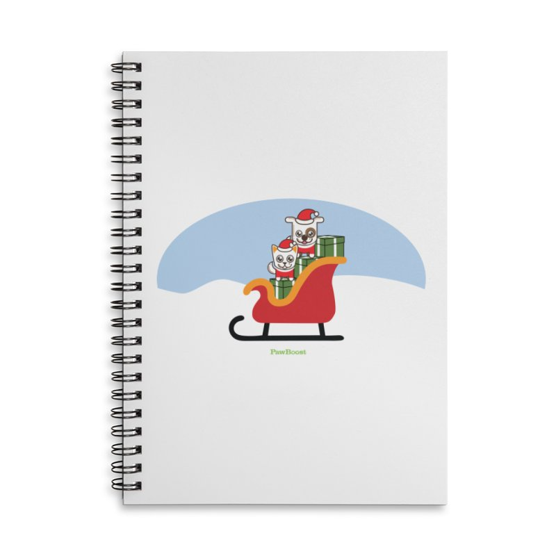 Santa Paws Accessories Lined Spiral Notebook by PawBoost's Shop