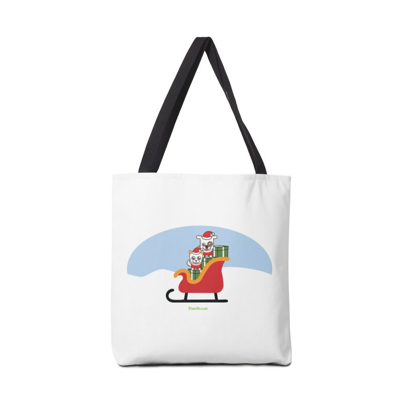 Santa Paws Accessories Tote Bag Bag by PawBoost's Shop