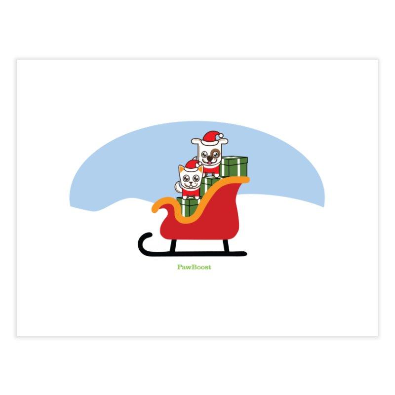 Santa Paws Home Fine Art Print by PawBoost's Shop