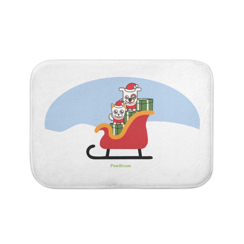 Santa Paws Home Bath Mat by PawBoost's Shop