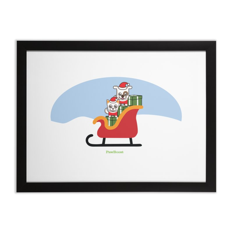 Santa Paws Home Framed Fine Art Print by PawBoost's Shop