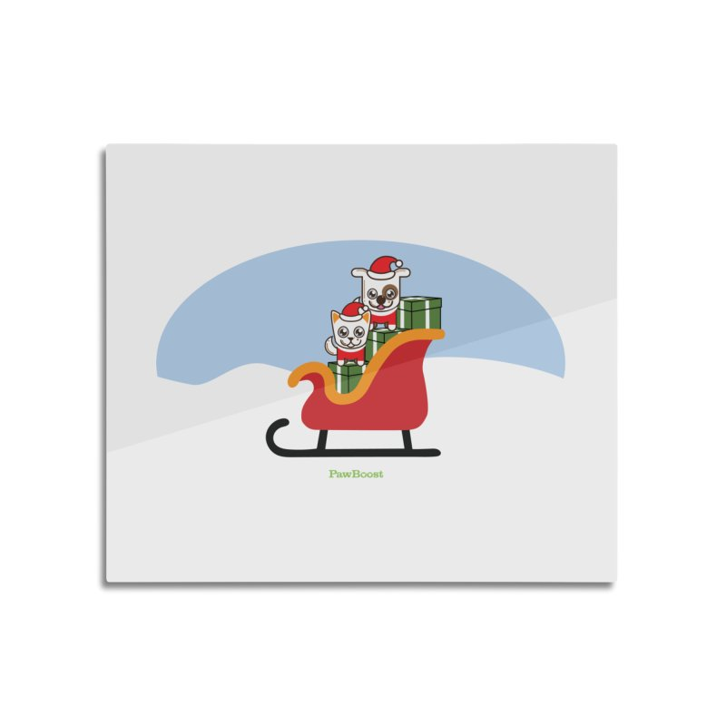 Santa Paws Home Mounted Aluminum Print by PawBoost's Shop