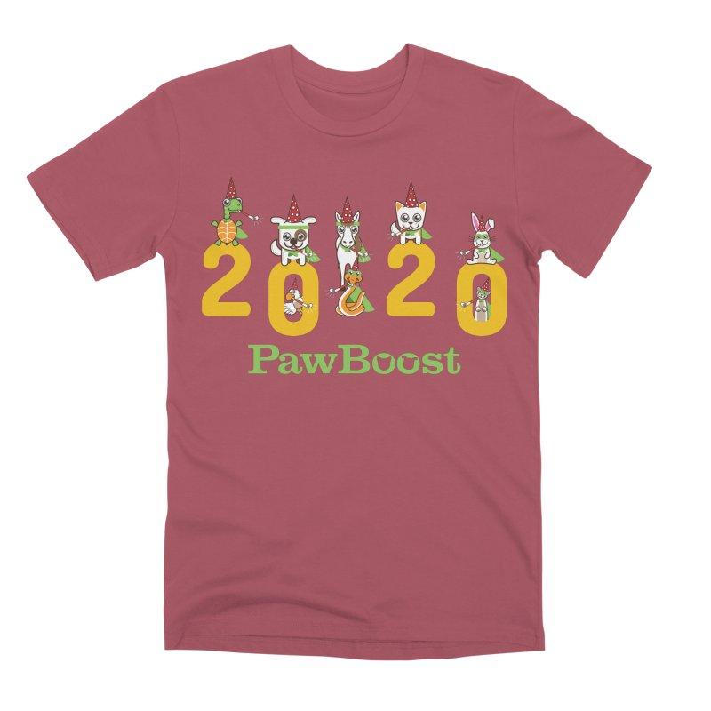 Hello 2020! Men's Premium T-Shirt by PawBoost's Shop
