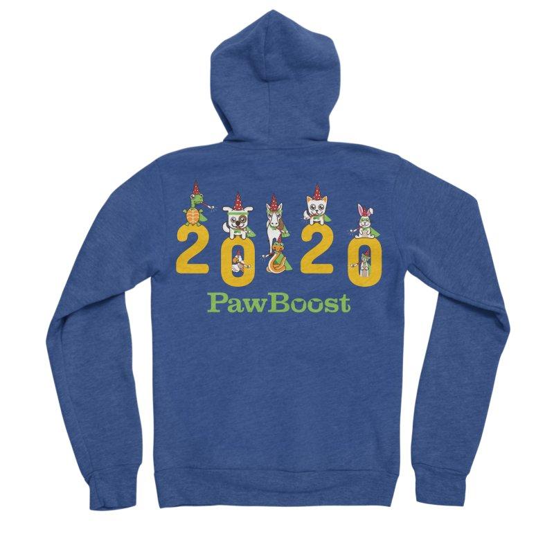 Hello 2020! Men's Sponge Fleece Zip-Up Hoody by PawBoost's Shop