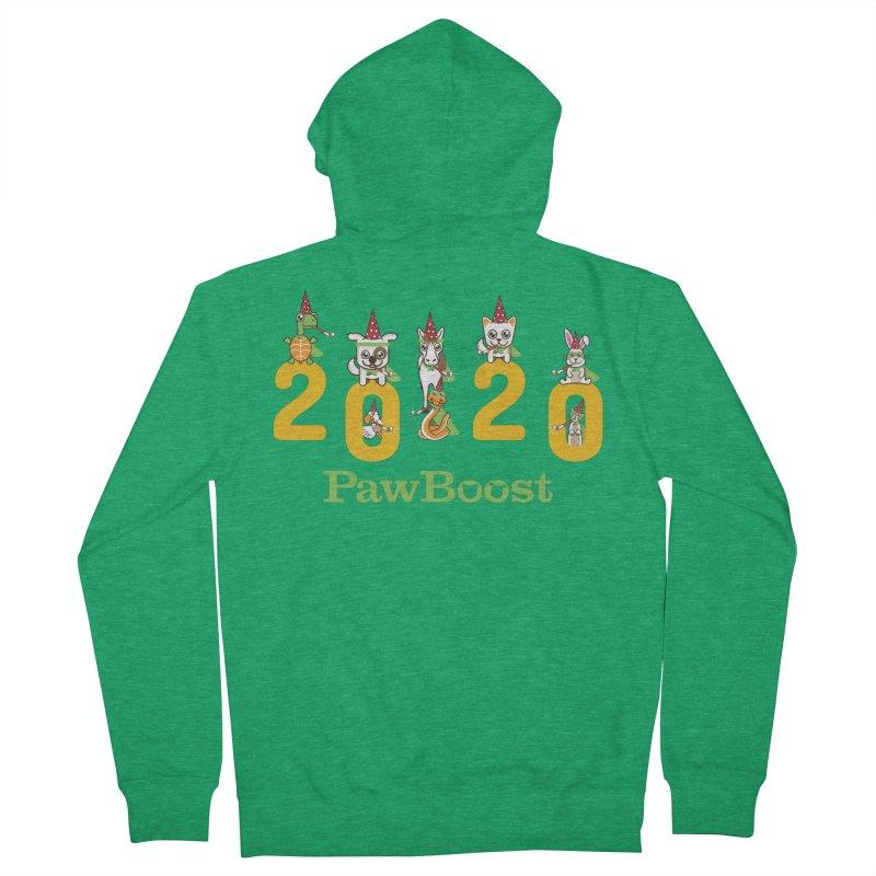Hello 2020! Men's Zip-Up Hoody by PawBoost's Shop