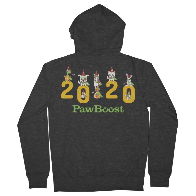 Hello 2020! Men's French Terry Zip-Up Hoody by PawBoost's Shop