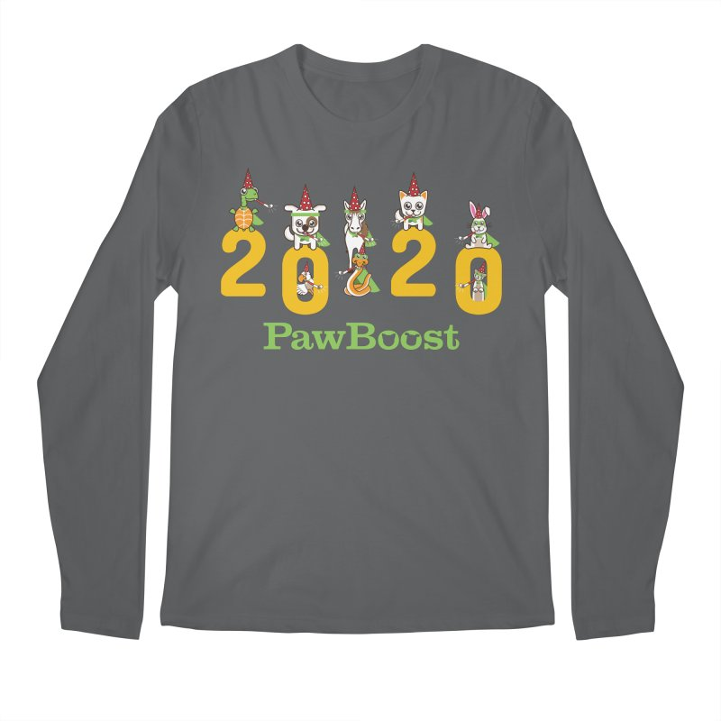 Hello 2020! Men's Longsleeve T-Shirt by PawBoost's Shop
