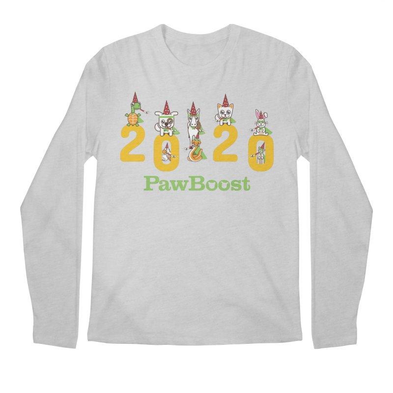 Hello 2020! Men's Regular Longsleeve T-Shirt by PawBoost's Shop