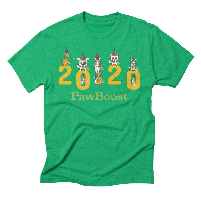 Hello 2020! Men's Triblend T-Shirt by PawBoost's Shop