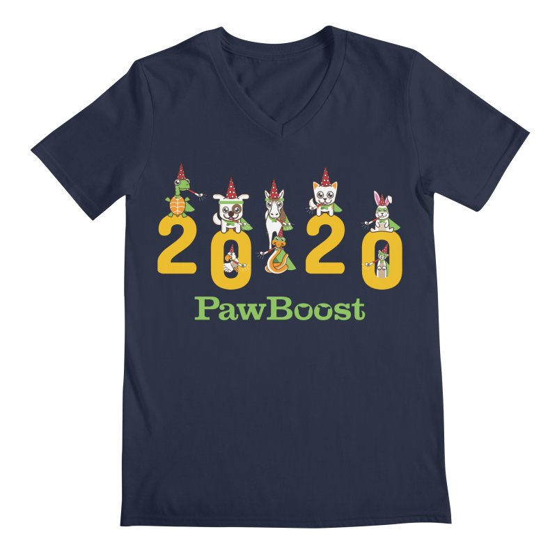 Hello 2020! Men's Regular V-Neck by PawBoost's Shop
