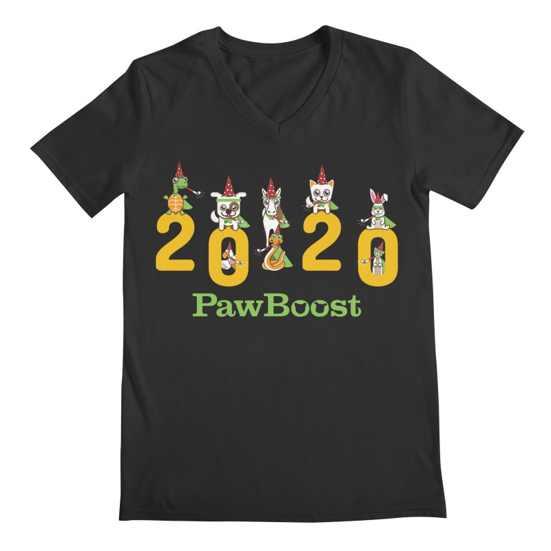 Hello 2020! Men's Regular V-Neck by PawBoost's Shop