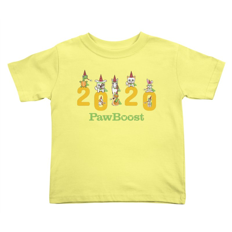 Hello 2020! Kids Toddler T-Shirt by PawBoost's Shop