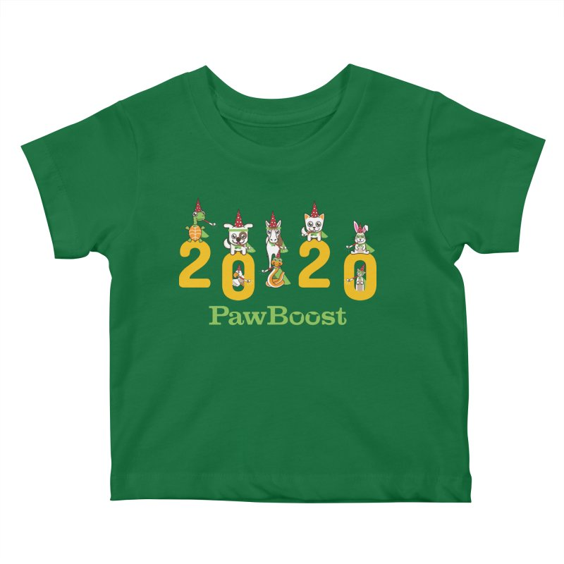 Hello 2020! Kids Baby T-Shirt by PawBoost's Shop