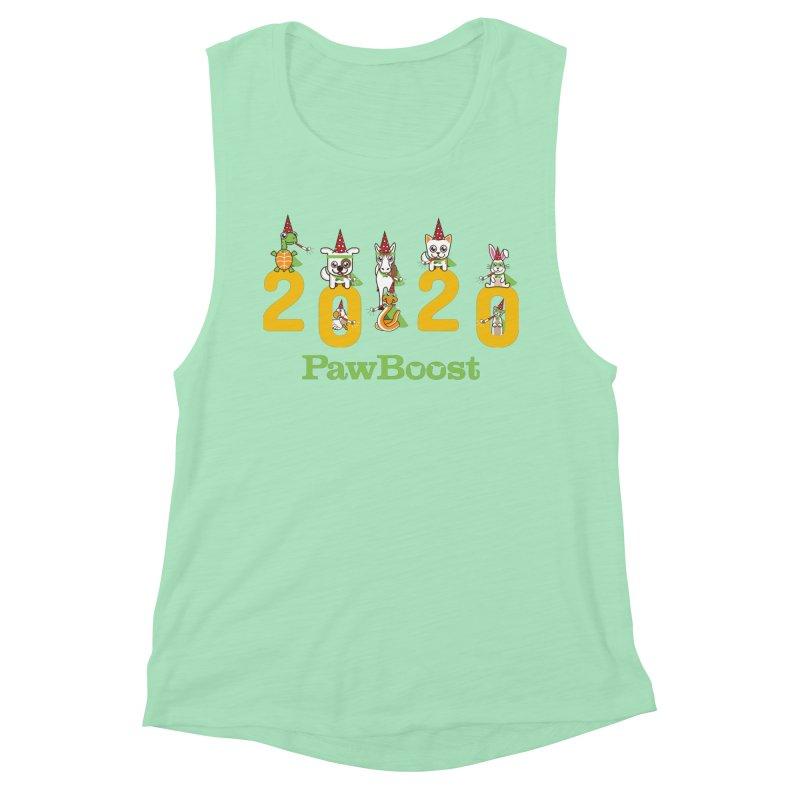 Hello 2020! Women's Muscle Tank by PawBoost's Shop