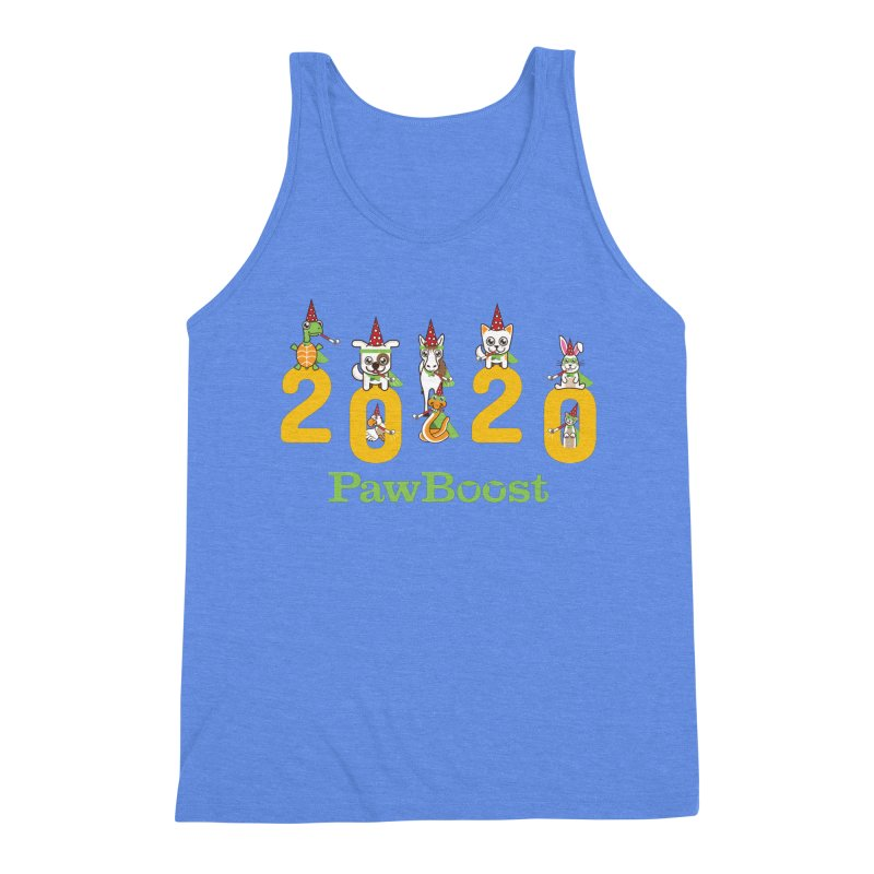 Hello 2020! Men's Triblend Tank by PawBoost's Shop