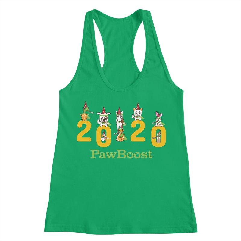 Hello 2020! Women's Racerback Tank by PawBoost's Shop