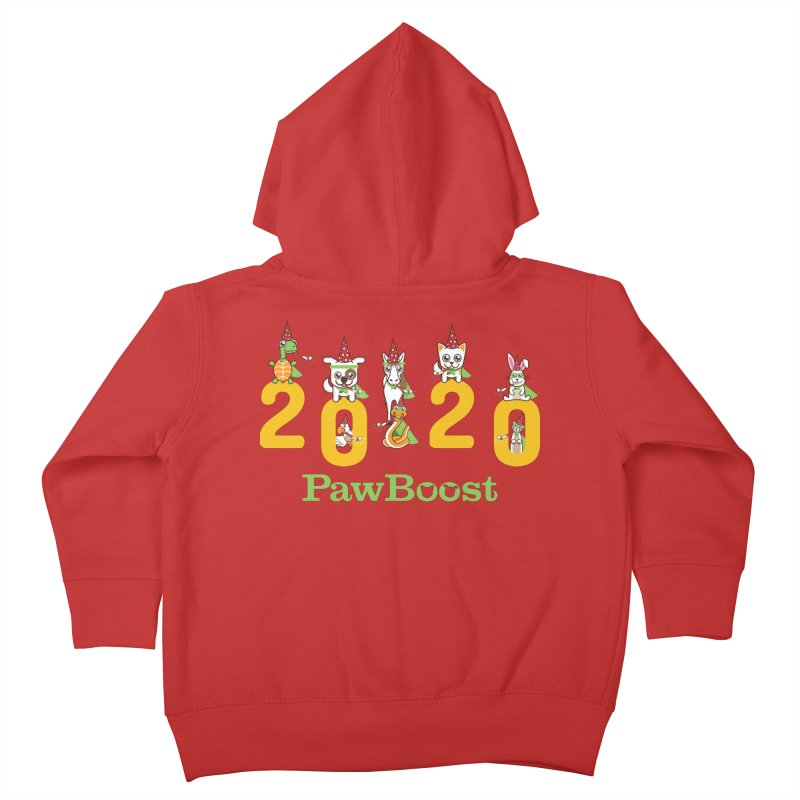 Hello 2020! Kids Toddler Zip-Up Hoody by PawBoost's Shop