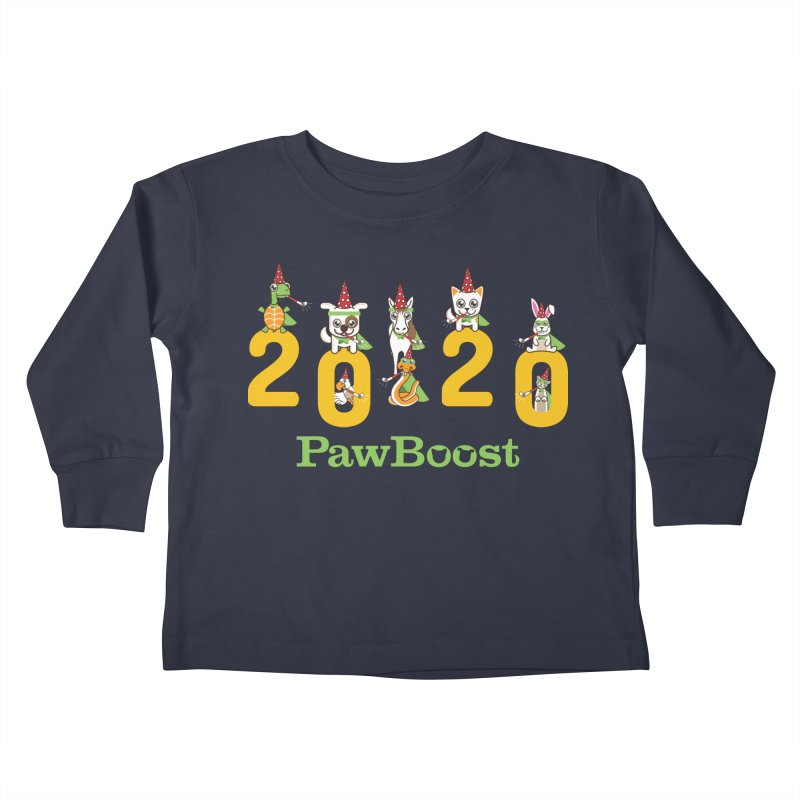 Hello 2020! Kids Toddler Longsleeve T-Shirt by PawBoost's Shop