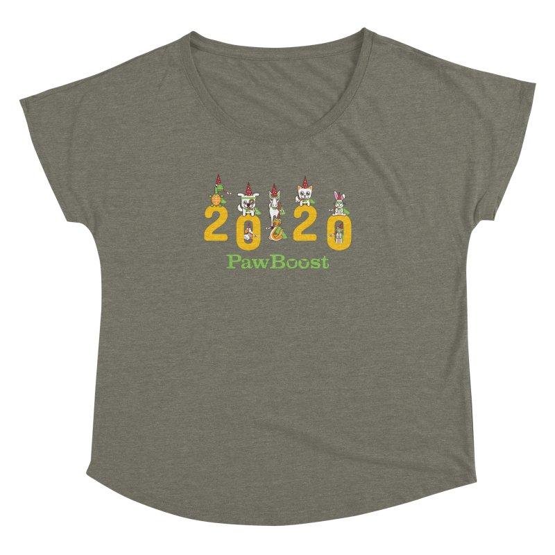 Hello 2020! Women's Dolman Scoop Neck by PawBoost's Shop