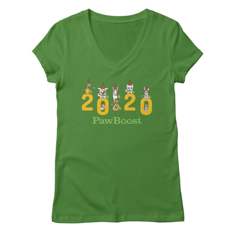 Hello 2020! Women's Regular V-Neck by PawBoost's Shop