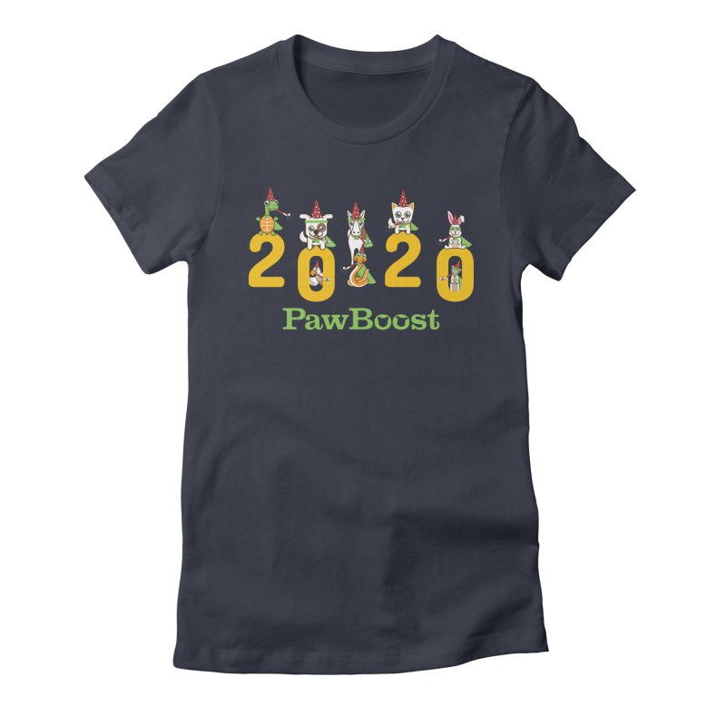 Hello 2020! in Women's Fitted T-Shirt Midnight by PawBoost's Shop