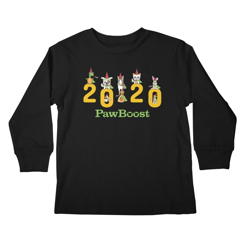 Hello 2020! Kids Longsleeve T-Shirt by PawBoost's Shop