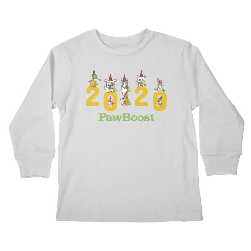 Hello 2020! Kids Longsleeve T-Shirt by PawBoost's Shop