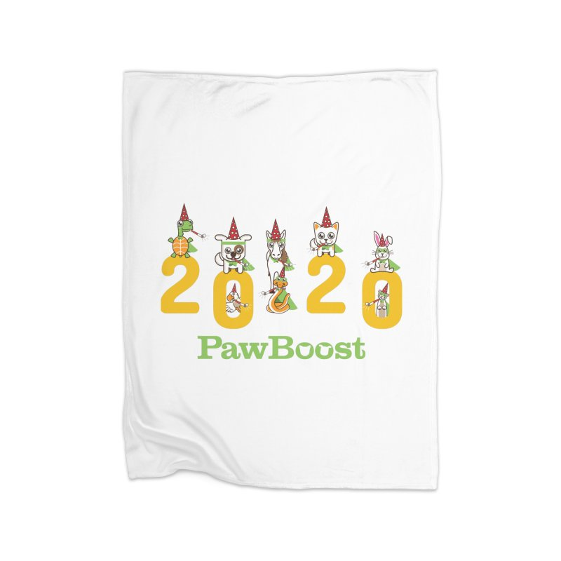 Hello 2020! Home Fleece Blanket Blanket by PawBoost's Shop