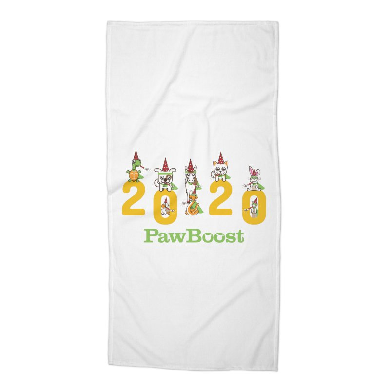Hello 2020! Accessories Beach Towel by PawBoost's Shop