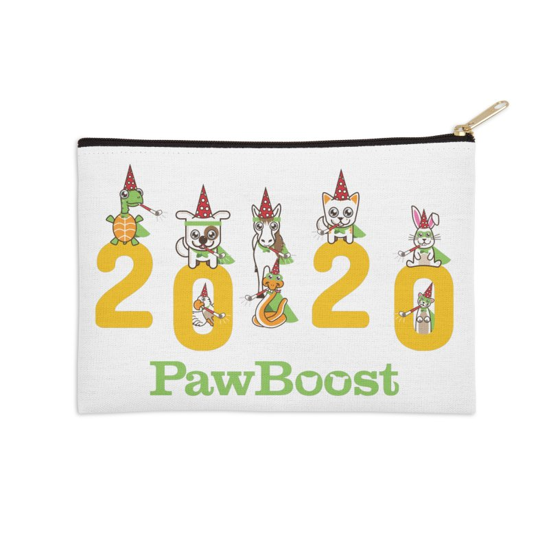 Hello 2020! Accessories Zip Pouch by PawBoost's Shop