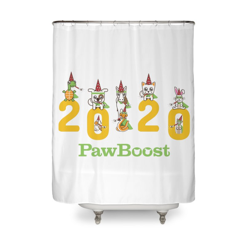 Hello 2020! Home Shower Curtain by PawBoost's Shop