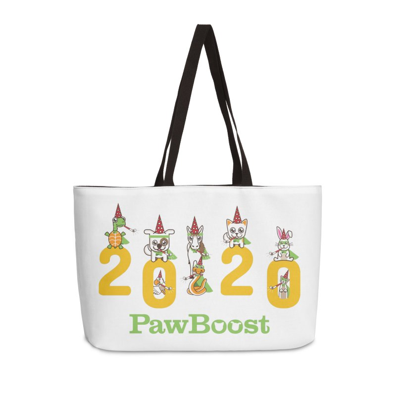 Hello 2020! Accessories Weekender Bag Bag by PawBoost's Shop