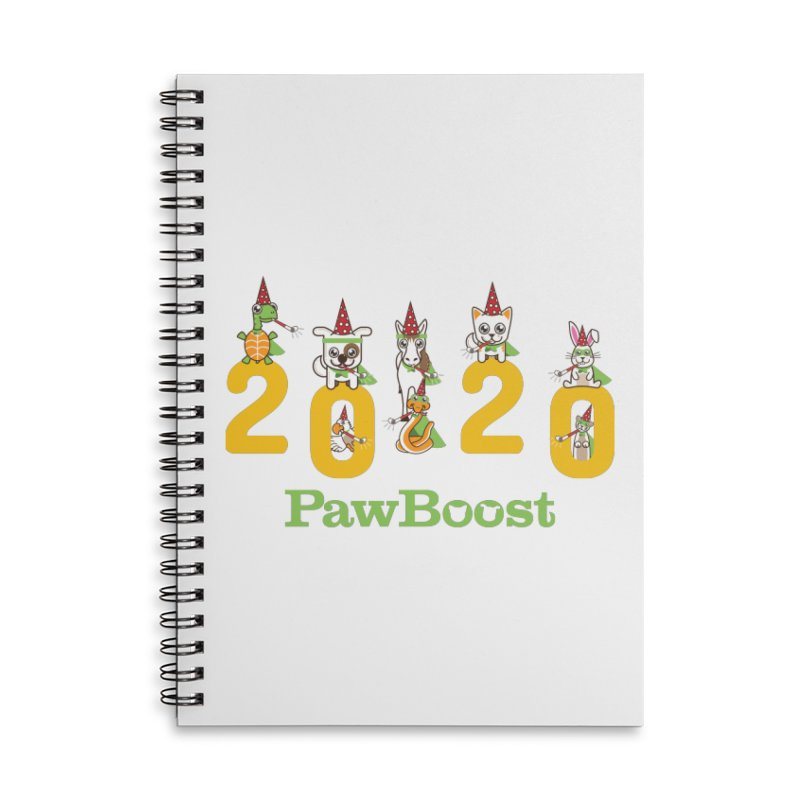 Hello 2020! Accessories Notebook by PawBoost's Shop