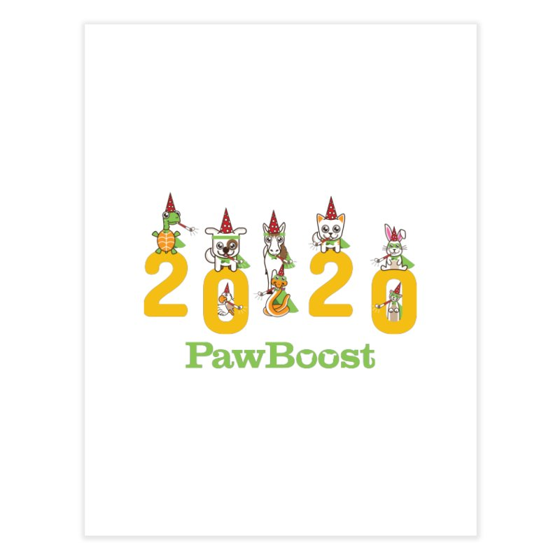 Hello 2020! Home Fine Art Print by PawBoost's Shop
