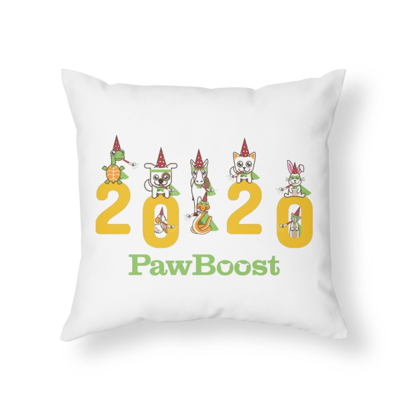 Hello 2020! Home Throw Pillow by PawBoost's Shop