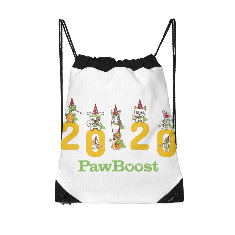 Hello 2020! Accessories Drawstring Bag Bag by PawBoost's Shop