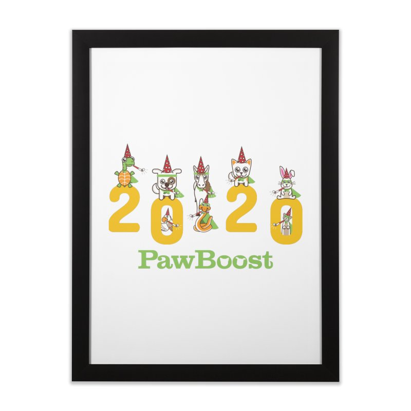 Hello 2020! Home Framed Fine Art Print by PawBoost's Shop