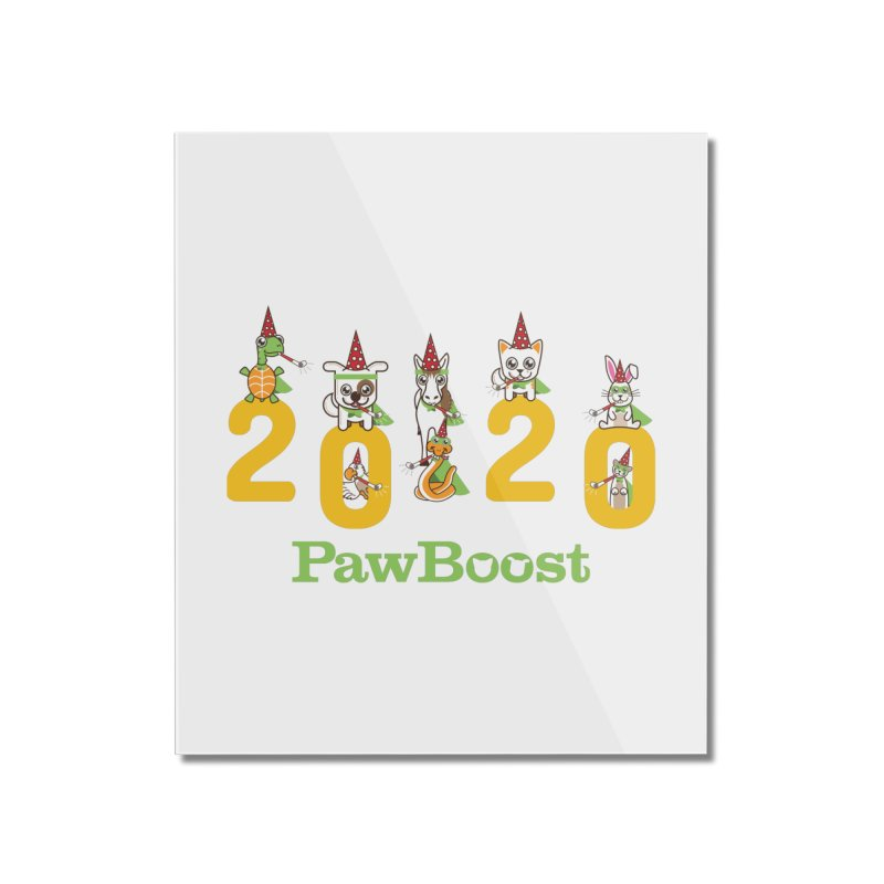 Hello 2020! Home Mounted Acrylic Print by PawBoost's Shop