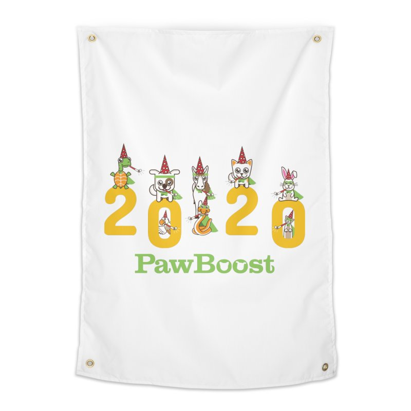 Hello 2020! Home Tapestry by PawBoost's Shop