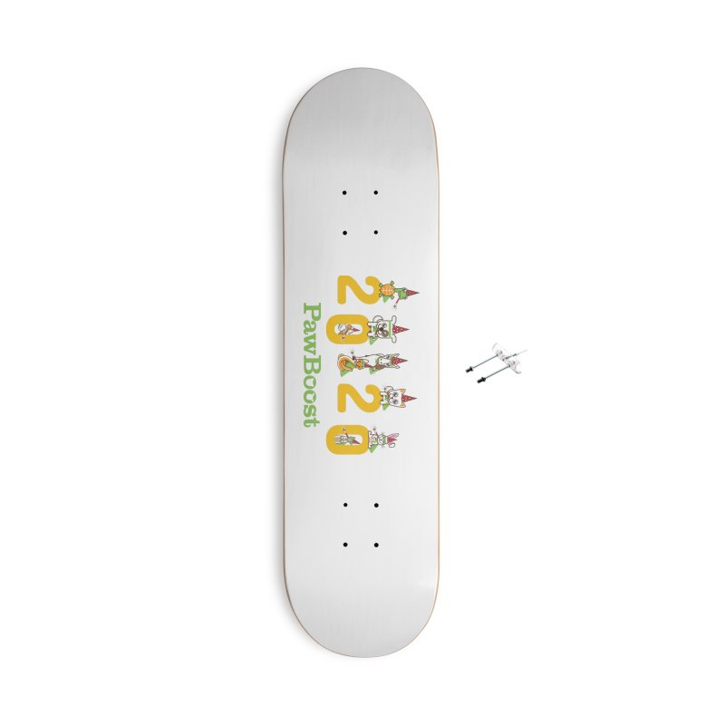Hello 2020! Accessories With Hanging Hardware Skateboard by PawBoost's Shop