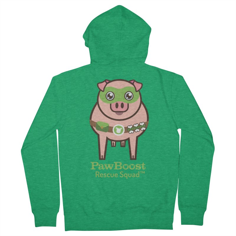 Presley (pig) Women's Zip-Up Hoody by PawBoost's Shop