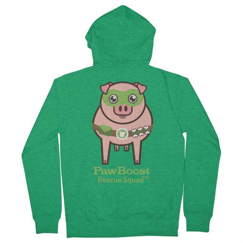 Presley (pig) Men's Zip-Up Hoody by PawBoost's Shop
