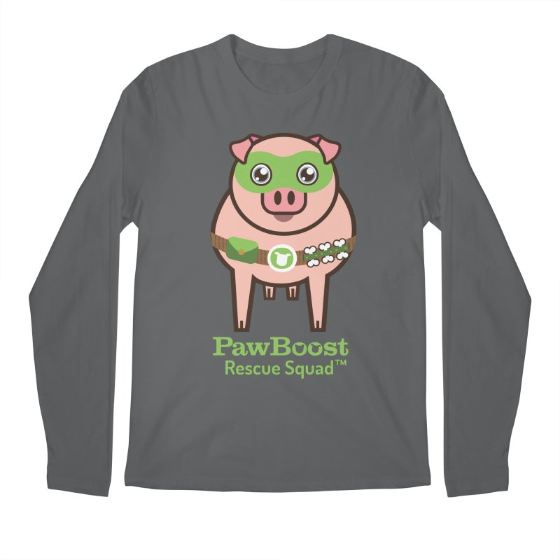 Presley (pig) Men's Longsleeve T-Shirt by PawBoost's Shop