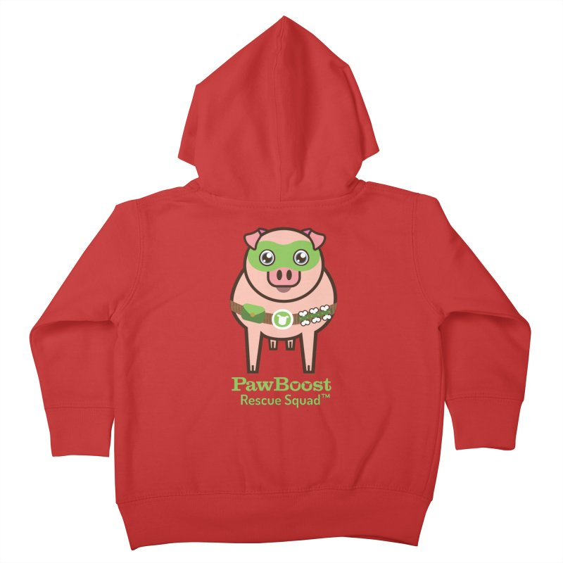 Presley (pig) Kids Toddler Zip-Up Hoody by PawBoost's Shop
