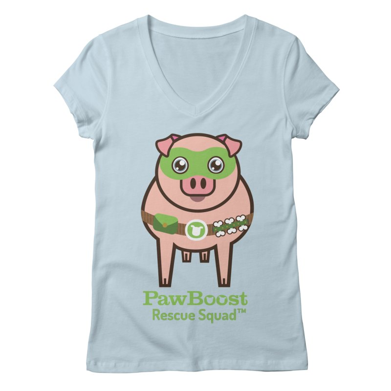 Presley (pig) Women's V-Neck by PawBoost's Shop